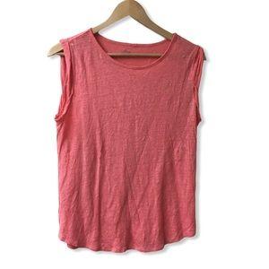 LOFT Linen T Sleeveless top Pink Size: Small